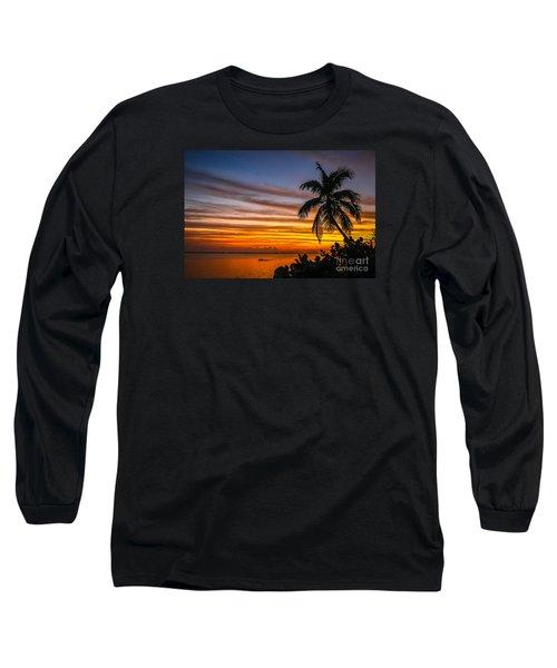 Hutchinson Island Sunrise #1 Long Sleeve T-Shirt by Tom Claud