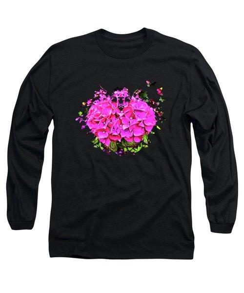 For The Love Of Hydrangeas Long Sleeve T-Shirt by Thom Zehrfeld