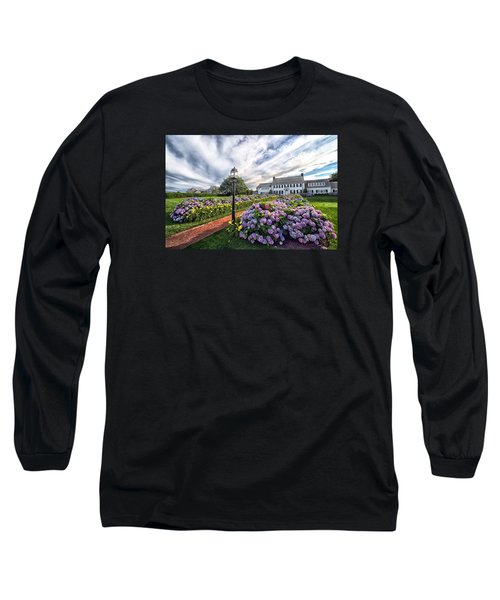 Long Sleeve T-Shirt featuring the photograph Hydrangea Walk House by Constantine Gregory