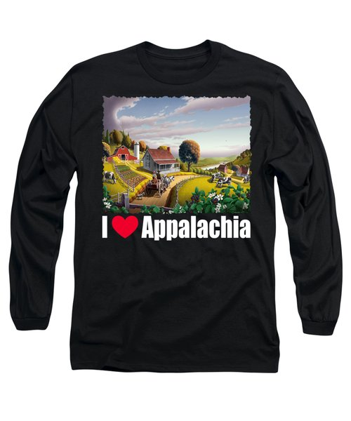 I Love Appalachia T Shirt - Appalachian Blackberry Patch Long Sleeve T-Shirt