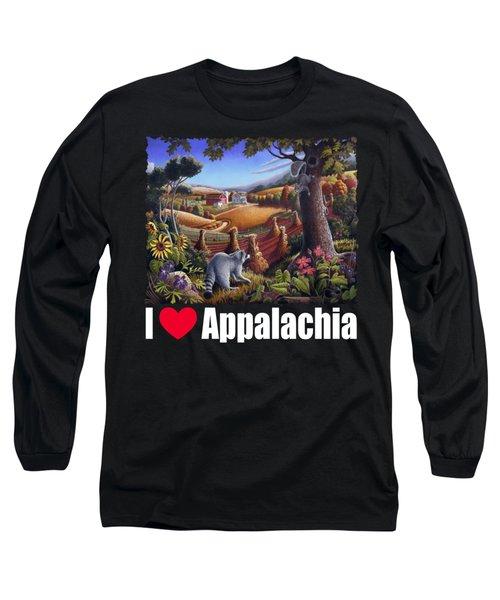I Love Appalachia T Shirt - Coon Gap Holler 2 - Country Farm Landscape Long Sleeve T-Shirt