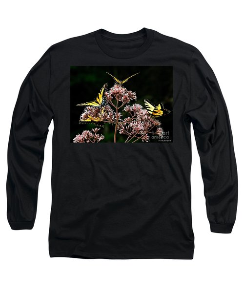 I Love Butterflies  Long Sleeve T-Shirt by Christy Ricafrente
