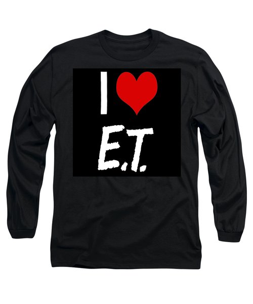 Long Sleeve T-Shirt featuring the digital art I Love E.t. by Gina Dsgn