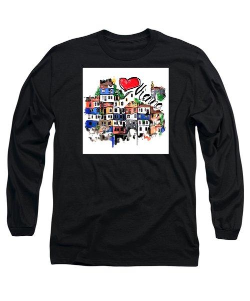 I Love Vienna  Long Sleeve T-Shirt by Sladjana Lazarevic