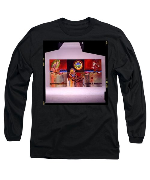 Long Sleeve T-Shirt featuring the painting I Saw The Figure Five In Gold by Charles Stuart