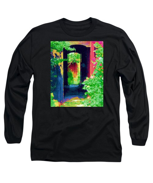 I Stand At The Door And Knock Long Sleeve T-Shirt by Diane E Berry