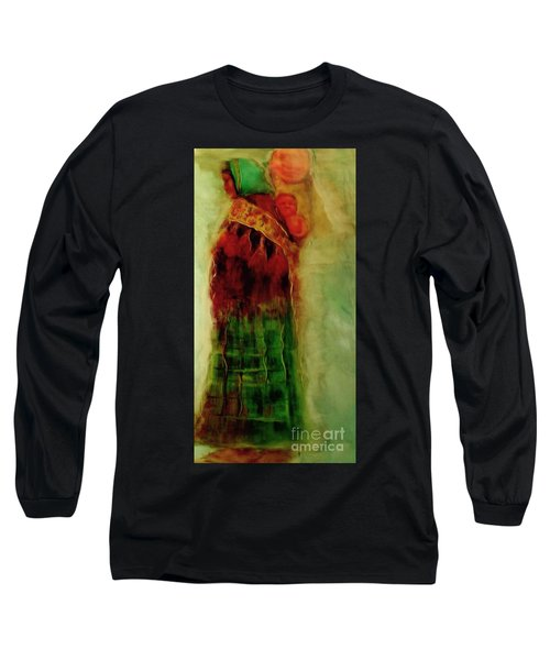 Long Sleeve T-Shirt featuring the painting I Walk by FeatherStone Studio Julie A Miller