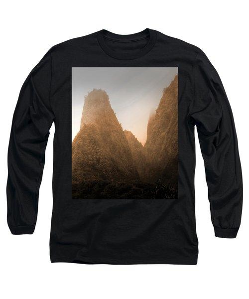 Iao Needle In Sepia Long Sleeve T-Shirt