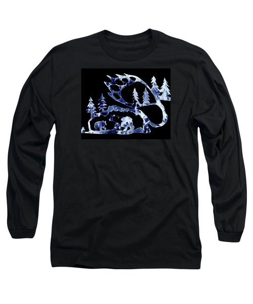 Ice Bears 1 Long Sleeve T-Shirt by Larry Campbell