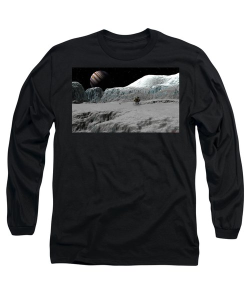 Ice Cliffs Of Europa Long Sleeve T-Shirt