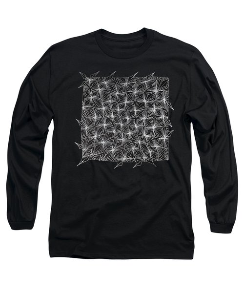 Ice Crystal Abstract  Long Sleeve T-Shirt