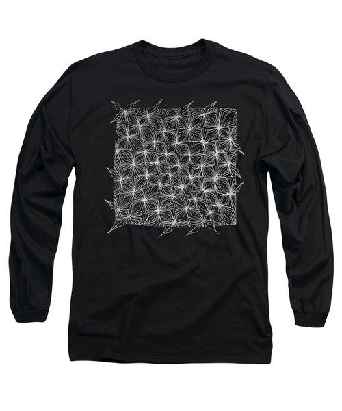 Ice Crystal Abstract  Long Sleeve T-Shirt