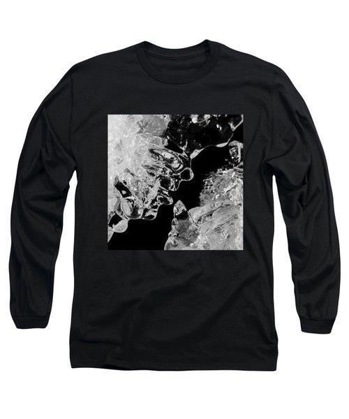 Ice Face Long Sleeve T-Shirt by Konstantin Sevostyanov