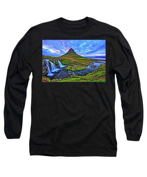 Long Sleeve T-Shirt featuring the photograph Ice Falls by Scott Mahon
