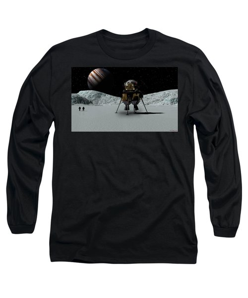 Long Sleeve T-Shirt featuring the digital art Icefield Landing by David Robinson