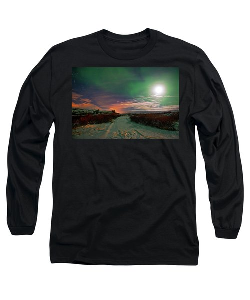 Long Sleeve T-Shirt featuring the photograph Iceland's Landscape At Night by Dubi Roman