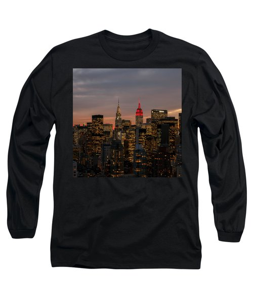 Long Sleeve T-Shirt featuring the photograph Icons Of Nyc by Anthony Fields