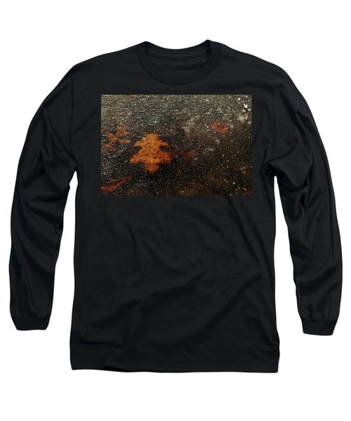Icy Leaf Long Sleeve T-Shirt by Michael McGowan