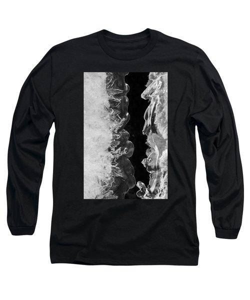 Icy Waves Long Sleeve T-Shirt by Konstantin Sevostyanov