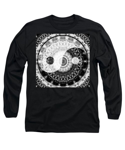 Ideal Balance Black And White Yin And Yang By Sharon Cummings Long Sleeve T-Shirt