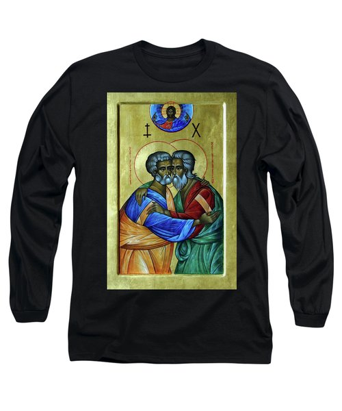 Long Sleeve T-Shirt featuring the photograph Ikon Sts. Peter And Andrew by John Schneider
