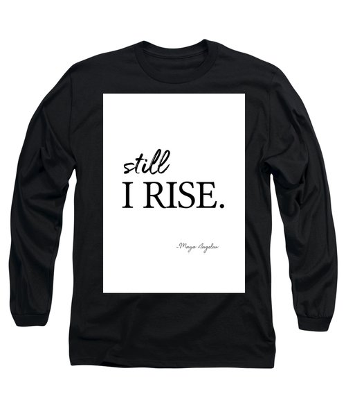 I'll Rise #minimalism 3 Long Sleeve T-Shirt