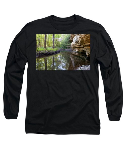Long Sleeve T-Shirt featuring the photograph Illinois Canyon In Spring by Paula Guttilla