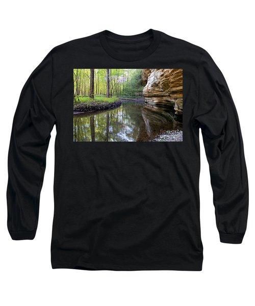 Illinois Canyon In Spring Long Sleeve T-Shirt by Paula Guttilla