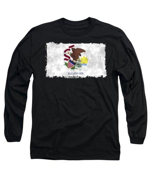 Illinois Flag Long Sleeve T-Shirt