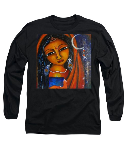 Long Sleeve T-Shirt featuring the painting Illuminate by Prerna Poojara