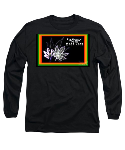 Long Sleeve T-Shirt featuring the digital art I'm Crazy In Love With Mary Jane by Jacqueline Lloyd