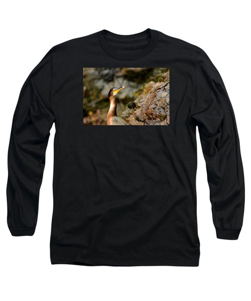 Long Sleeve T-Shirt featuring the photograph Immature Shag by Richard Patmore