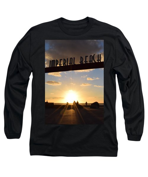 Imperial Beach At Sunset Long Sleeve T-Shirt