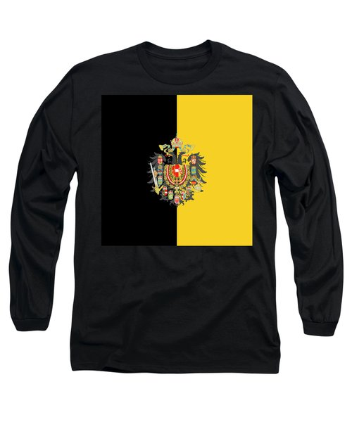 Habsburg Flag With Imperial Coat Of Arms 2 Long Sleeve T-Shirt