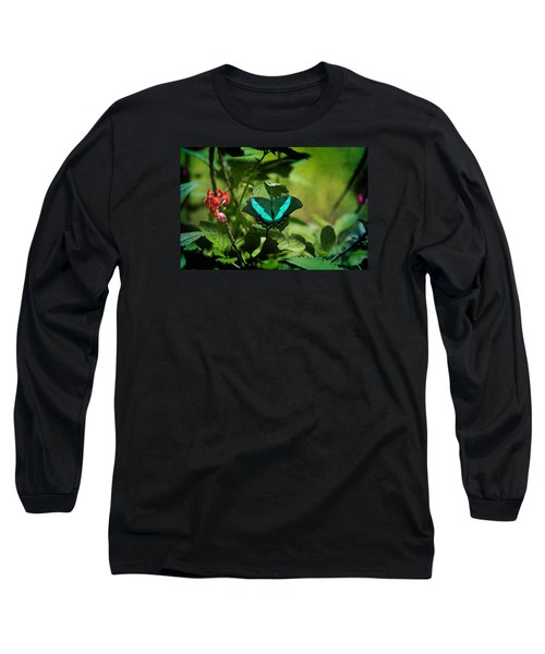 In A Butterfly World Long Sleeve T-Shirt by Milena Ilieva