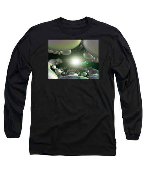 Long Sleeve T-Shirt featuring the digital art In A Galaxy Far Far Far Away by Melissa Messick