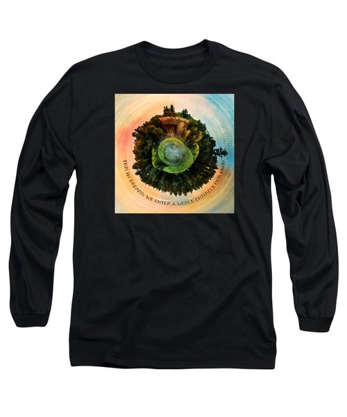 In Dreams A World Entirely Our Own Orb Long Sleeve T-Shirt