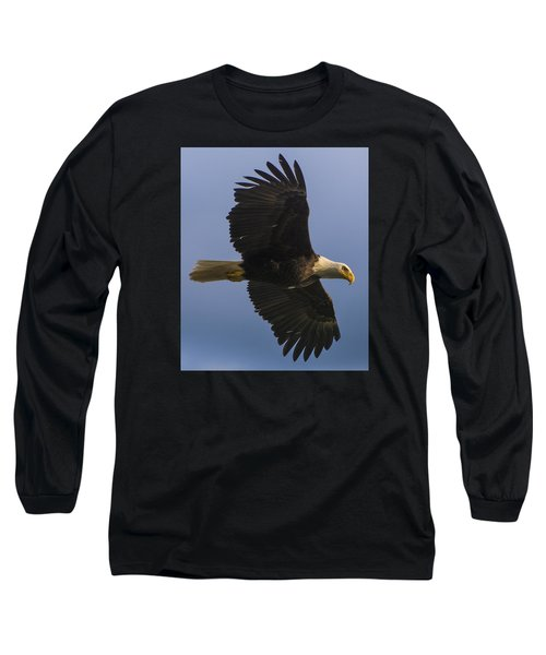 Long Sleeve T-Shirt featuring the photograph In Flight by Gary Lengyel