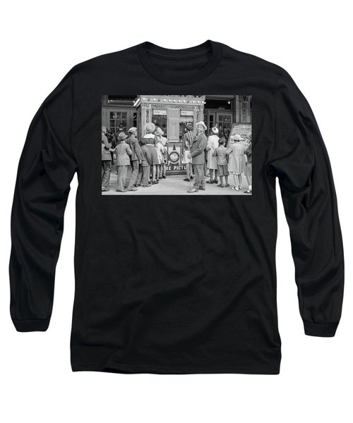 In Front Of A Movie Theater, Chicago, Illinois Long Sleeve T-Shirt