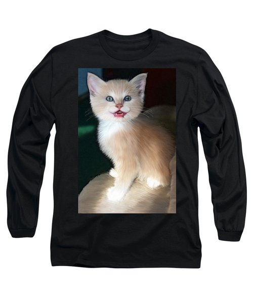 Long Sleeve T-Shirt featuring the digital art In Memoriam Baby Gussy by Holly Ethan