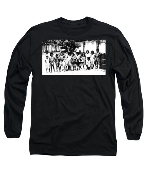 In The Amazon 1953 Long Sleeve T-Shirt by W E Loft