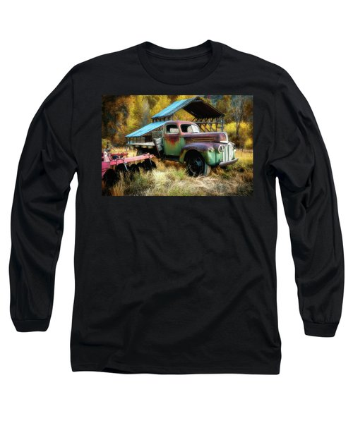 In The Autumn Of Life - 1945 Ford Flatbed Truck Long Sleeve T-Shirt