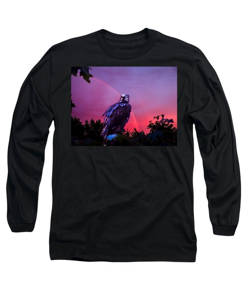 Long Sleeve T-Shirt featuring the photograph In The Eye Of A Hawk by Glenn Feron