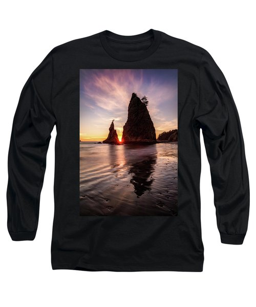 Long Sleeve T-Shirt featuring the photograph In The Heart Of The Sea Stacks by Pierre Leclerc Photography