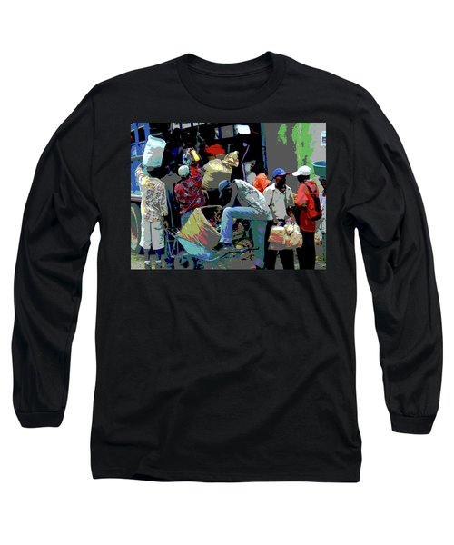 In The Market Place Long Sleeve T-Shirt by B Wayne Mullins