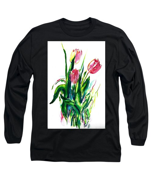 In The Pink Tulips Long Sleeve T-Shirt