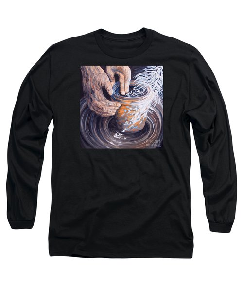 Long Sleeve T-Shirt featuring the painting In The Potter's Hands by Eloise Schneider