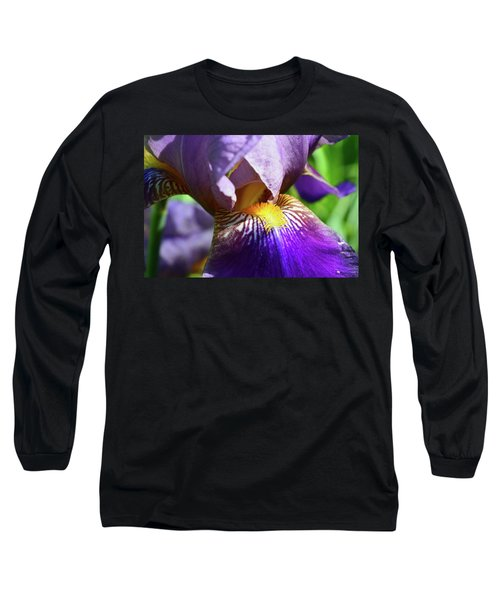 In The Purple Iris Long Sleeve T-Shirt by Lyle Crump