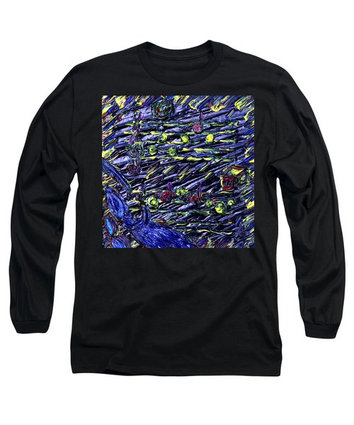 Long Sleeve T-Shirt featuring the painting In Vasser Und Fayer by Vadim Levin