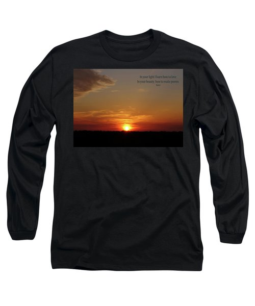 Long Sleeve T-Shirt featuring the photograph In Your Light by Rhonda McDougall